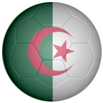 Algeria Football Flag 25mm Flat Back
